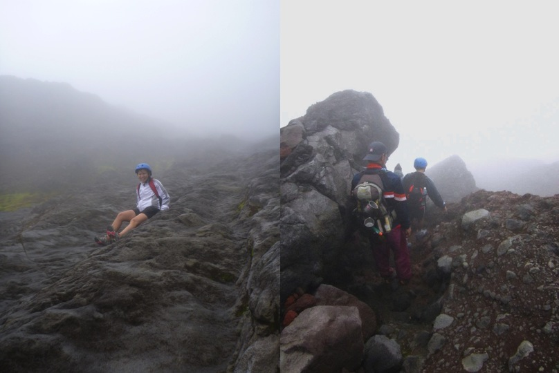 Going down the steep, slippery rocks was alot harder than ascending