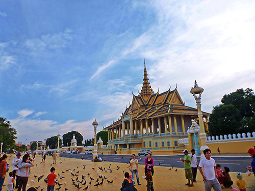 Vibrant Square in front of the palace