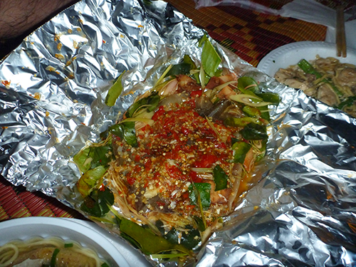 our skinny but very well marinated grilled stingray