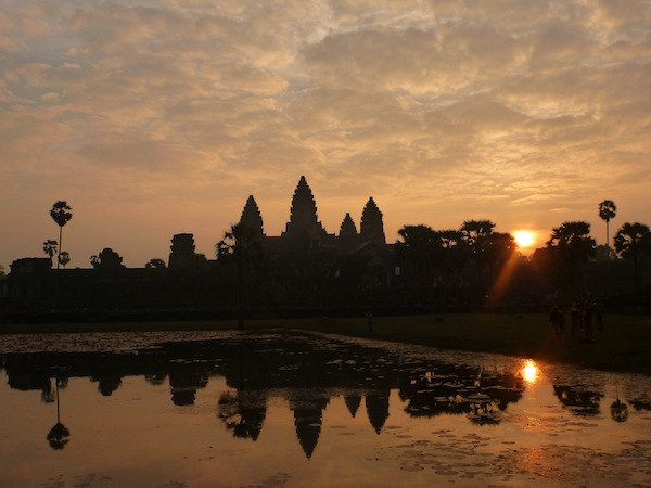 Angkor Wat against the rising sun