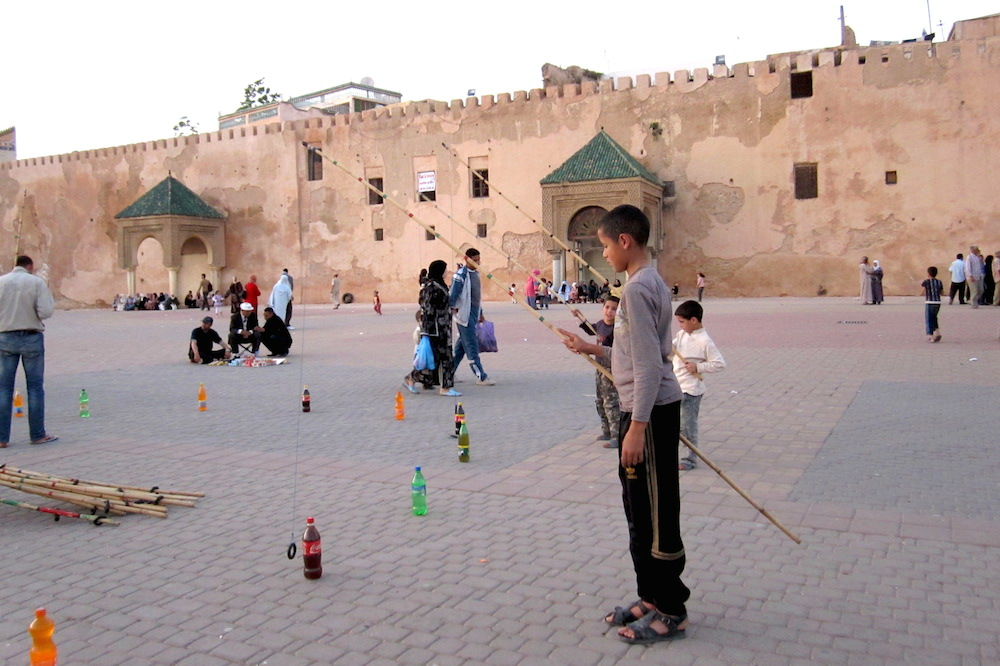 Place el hedim, where locals hang around, play games and watch live performances (from magic tricks to cobra dances)