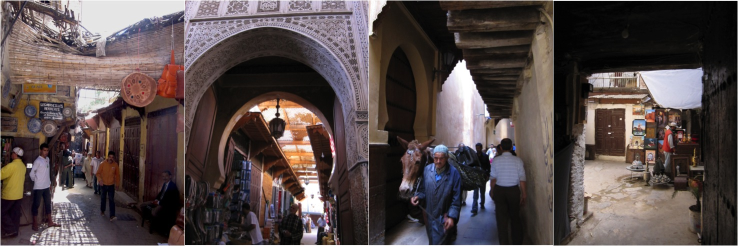 Follow the bend of a lane and find yourself in a street of food stands, artisans at work, the entrance of a mosque or a small doorway that opens up to a courtyard