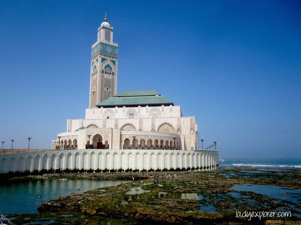 The majestic Hassan II Mosque by the sea