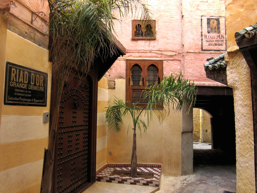 riad d'or entrance
