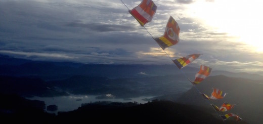 Adam's Peak flags