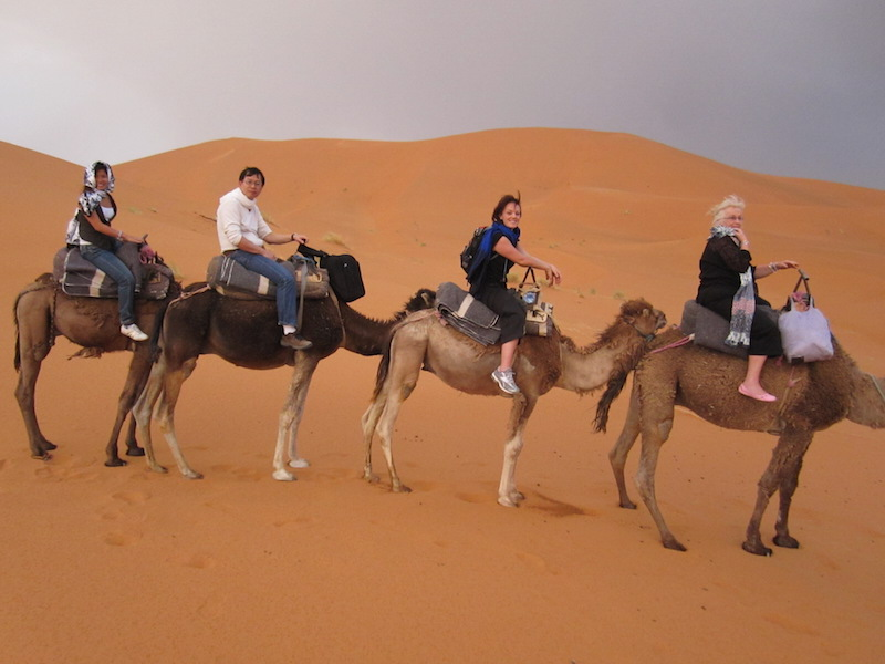 Riding into the Sahara