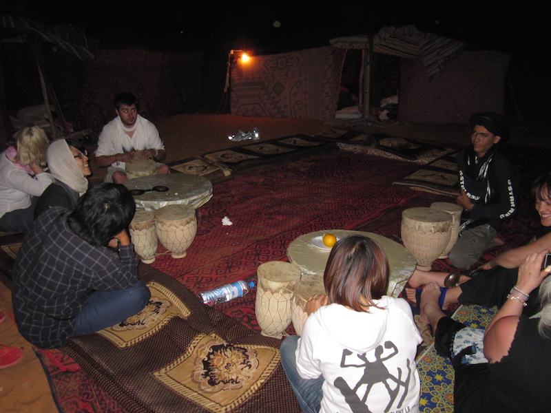 Trying our hands at creating Berber folk music in the middle of the desert