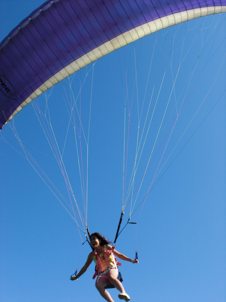My first time paragliding