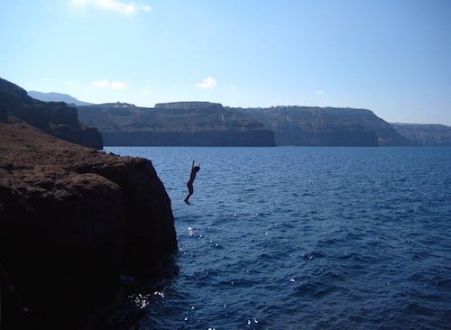 Santorini-Cliff Dive