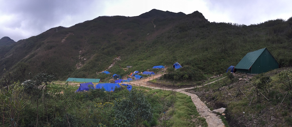 Campsite at Fansipan base camp