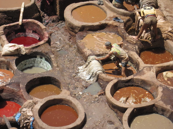 Morocco tanneries