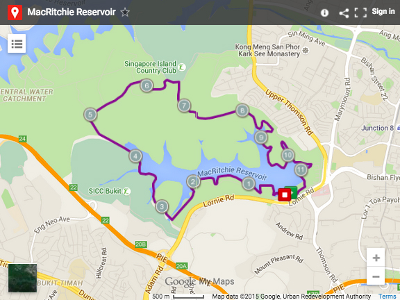 MacRitchie map