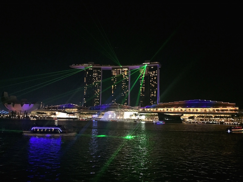 Time your run to catch the MBS light show daily at 8pm or 9.30pm