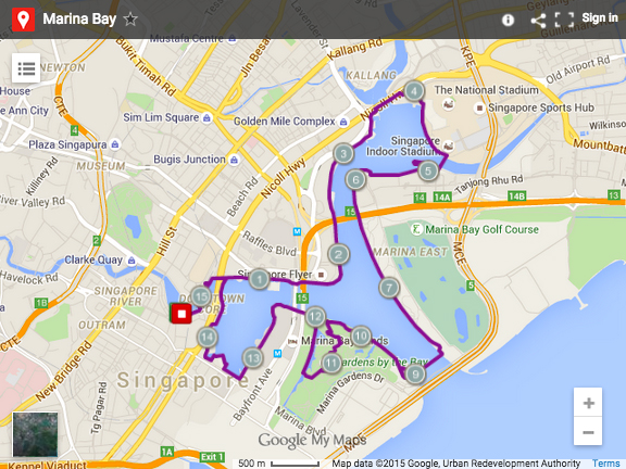 Where To Run In Singapore Here Are Best Running Routes - Running map planner