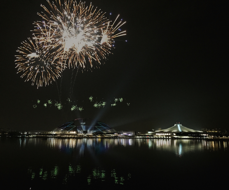When there're events held at SportsHub (like SEA Games 2015 closing above), catch a first-class view of the fireworks along the Kallang basin