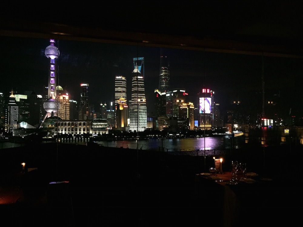 Dining with a view @ Roosevelt Sky Bar