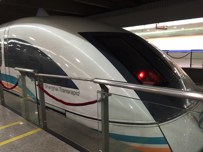 Shanghai Maglev Train (also known as Shanghai Transrapid)