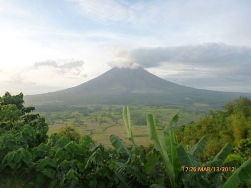 Mt Mayon from Lignon Hill