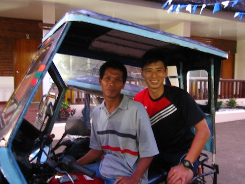 Our 5min tricycle ride from the bus station to our hotel costs PHP20