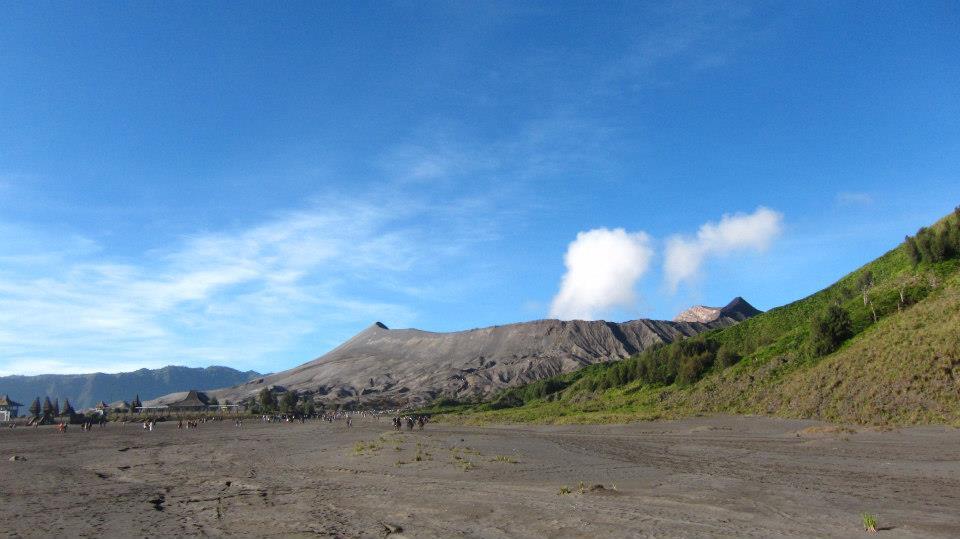 Looking back at Mount Bromo