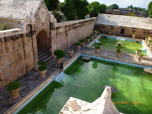 Taman Sari (or Water Castle) - sultan's harlem where he looks over the bathing pools to choose his concubine