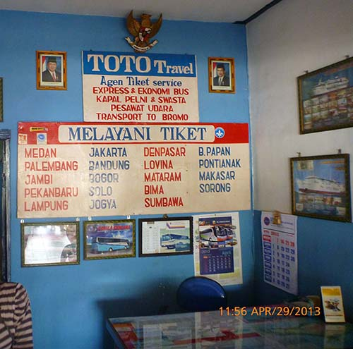 Office of Toto Travel at Probolinggo Bus Station