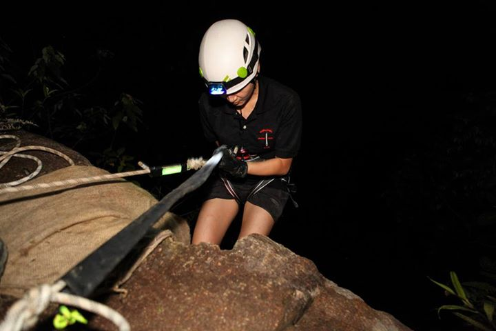 Night abseil at Dairy Farm by Adventure Ceekers