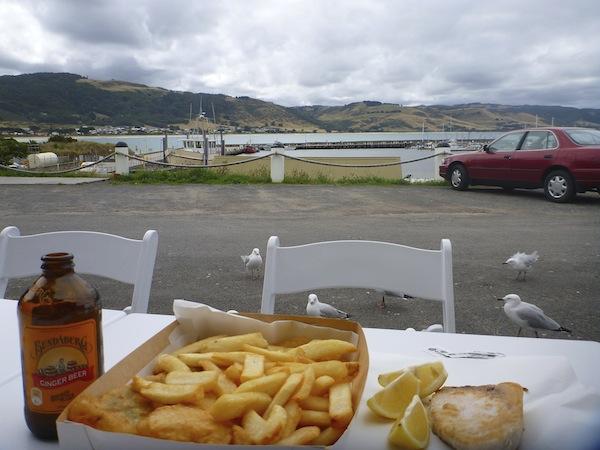 Fish n Chips x 2, Bundaberg Ginger beer and grilled swordfish for AU$28