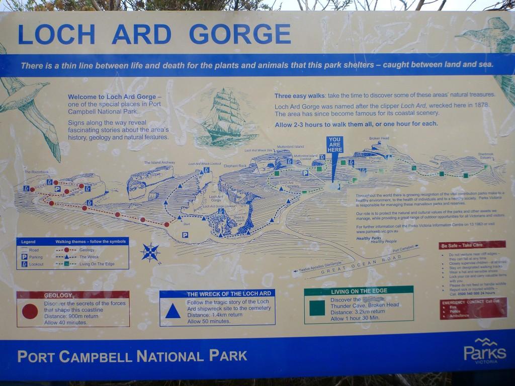 Walks around Loch Ard Gorge, Port Campbell National Park
