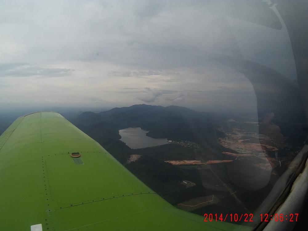 Flying over Gunung Pulai