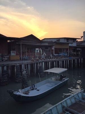 Sunset at Chew Jetty
