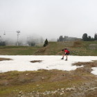 A futile attempt to ski at Chamrousse in Spring