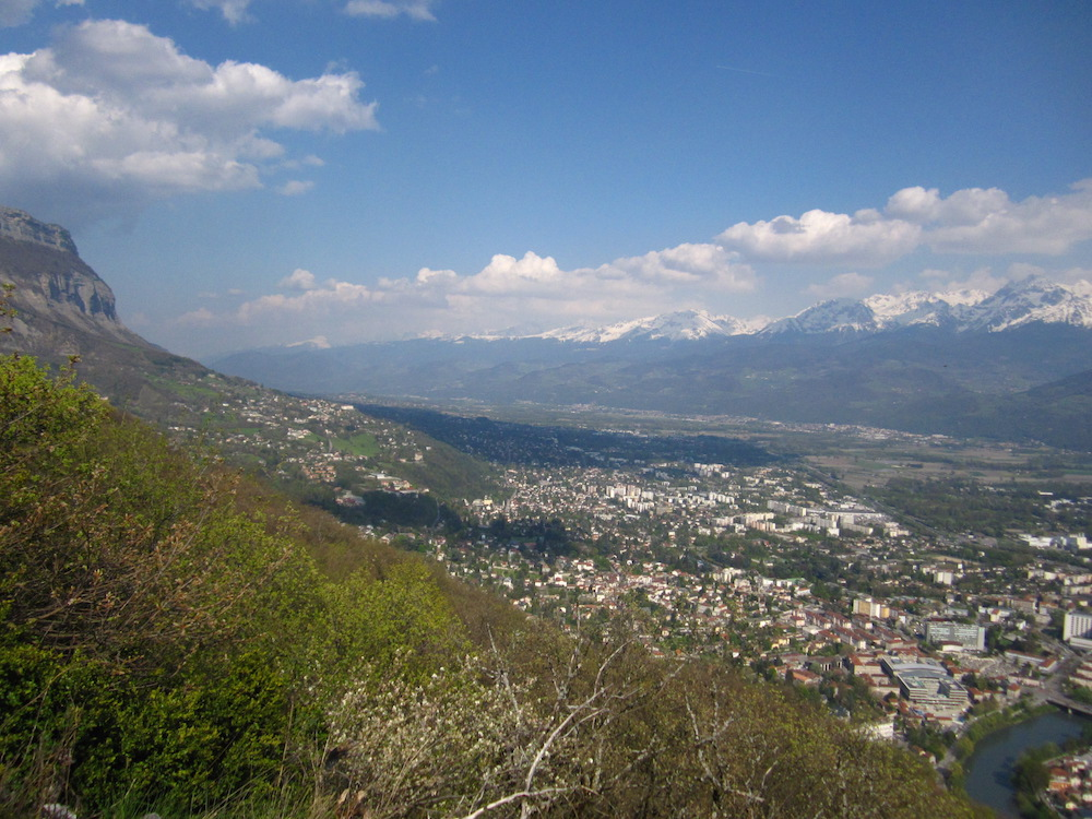 View of the entire Grenoble from Mont Jalla