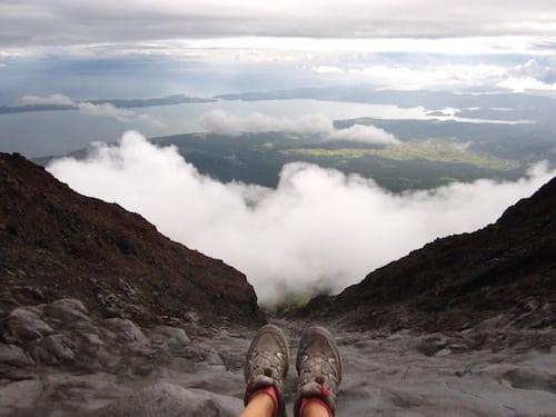 Mount Mayon peak