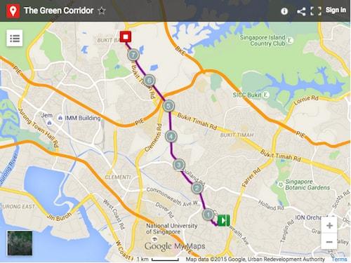 Green Corridor map