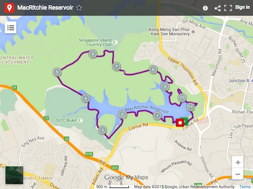 Awardwinning Running Routes In Singapore The World Is Waiting - Google maps jogging route