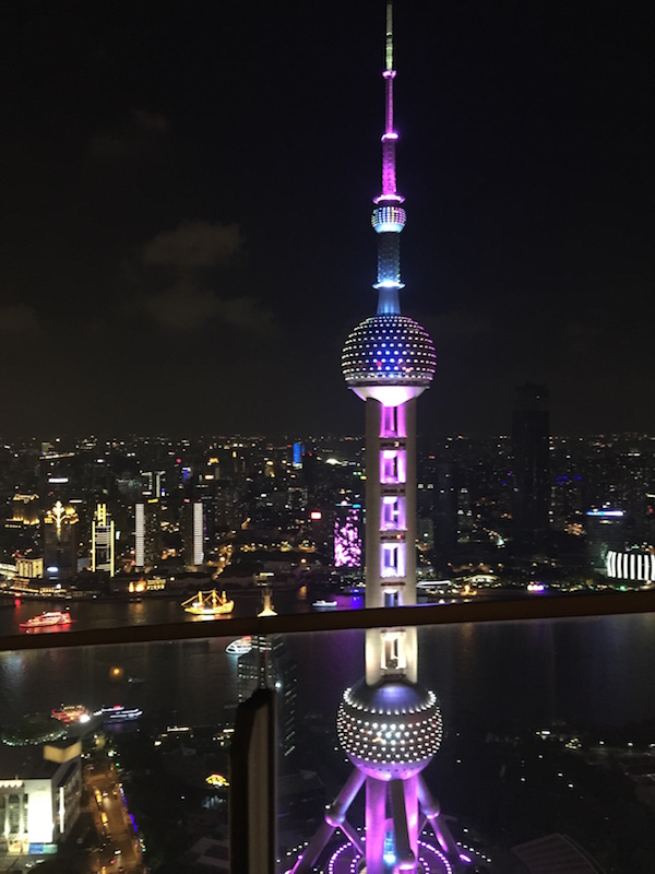 Beautiful place to watch Shanghai's skies dim while the city lights up