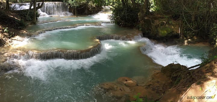Kuangsi Terraces Waterfall Laos