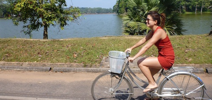 cycling at angkor wat
