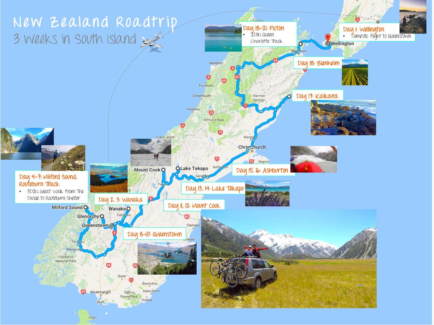 3 weeks in new zealand south island our itinerary the. Black Bedroom Furniture Sets. Home Design Ideas